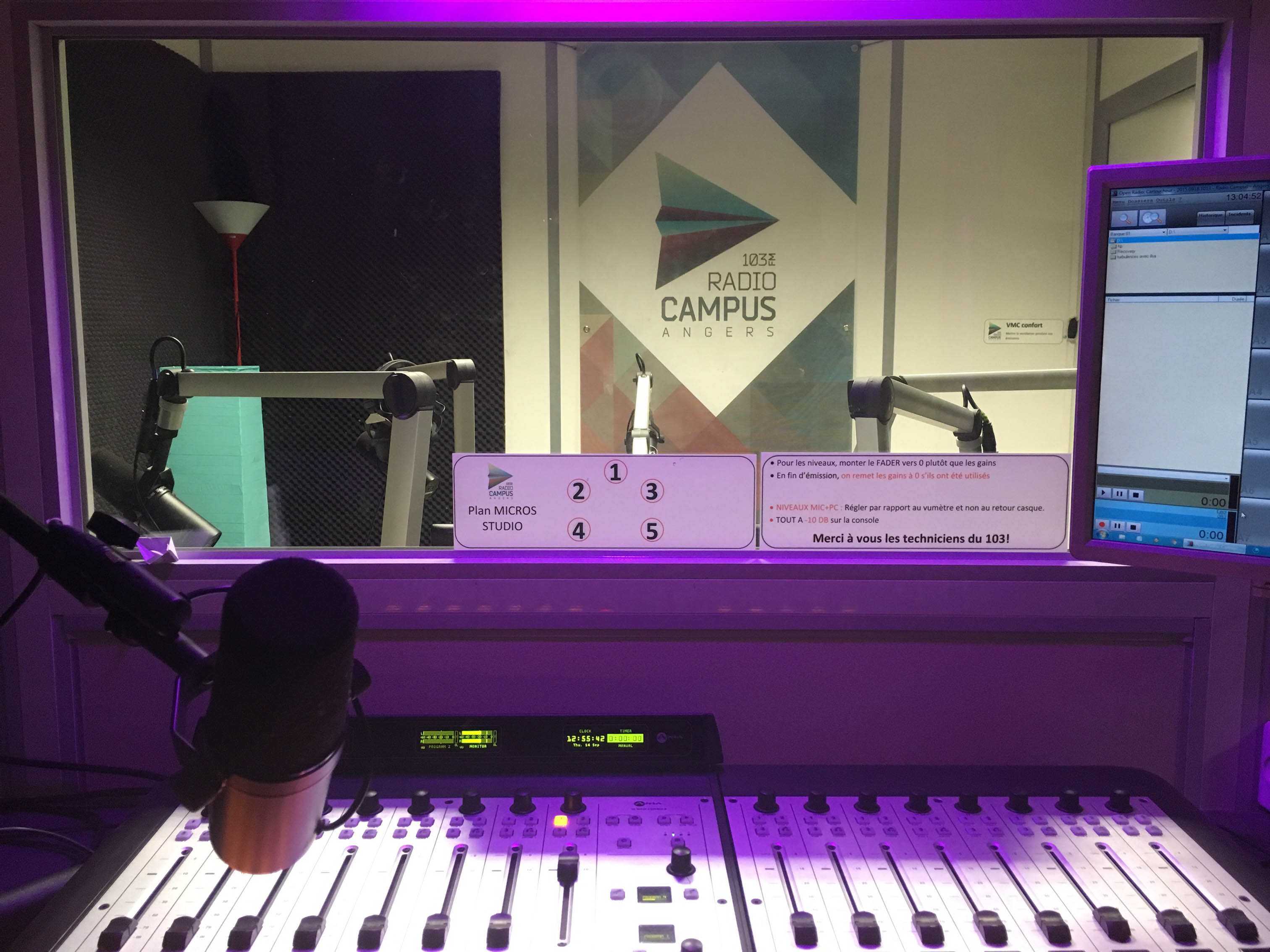 studio Radio Campus Angers