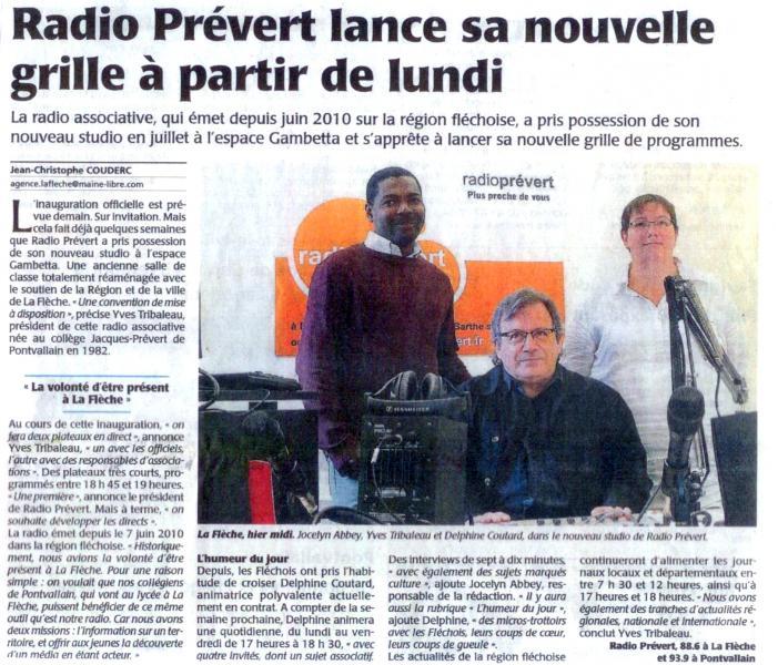 Radio Prévert - Le Maine Libre - 21 09 2011