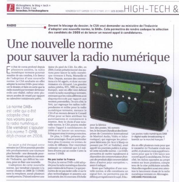 Les Echos - 9/12/2011